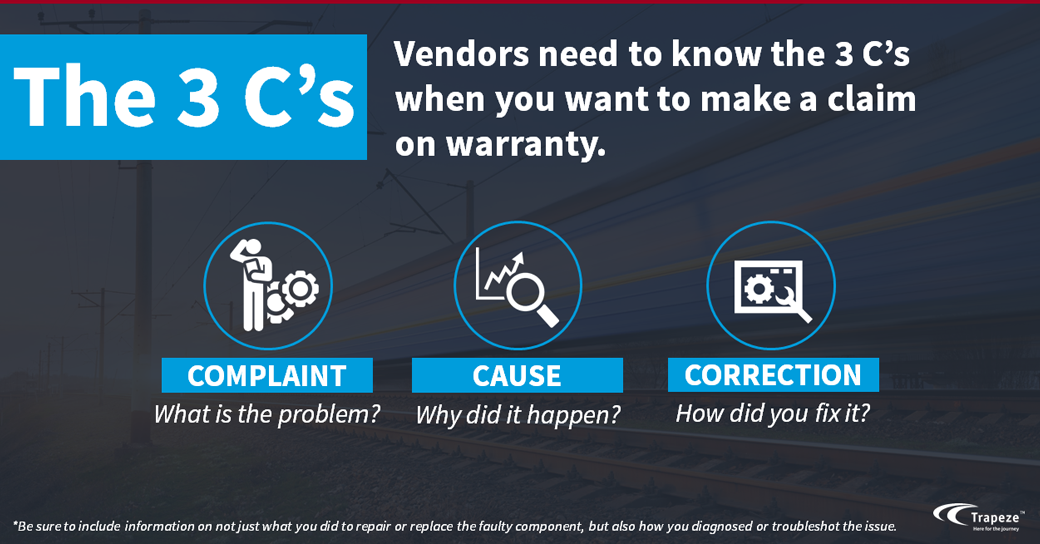 The 3 C's of warranty claims EAM
