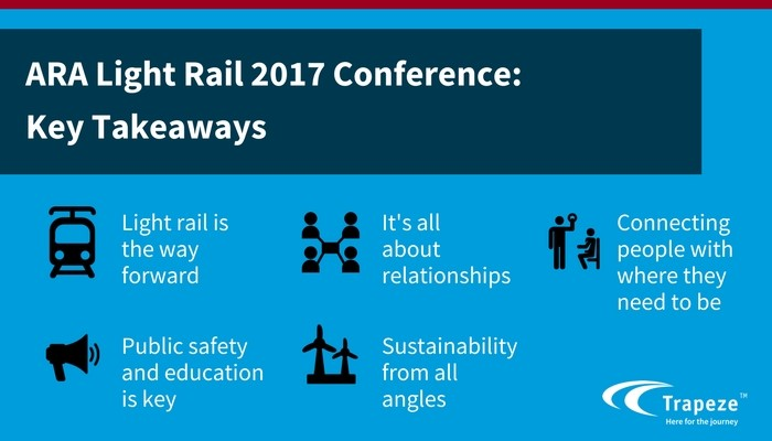 Key takeaways from the ARA Light Rail Conference 2017 EAM