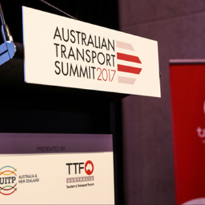 Australian Transport Summit 2017 Signage public transport