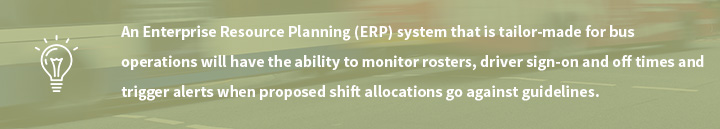 Enterprise Resource Planning (ERP) system explanation for bus