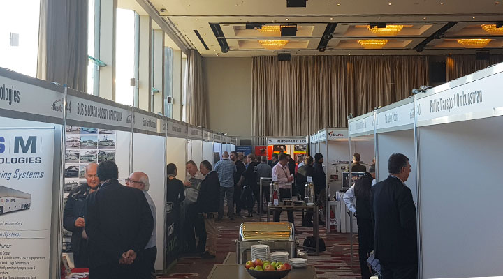 Bus Vic conference 2018 stands for bus maintenance software and public transport operators
