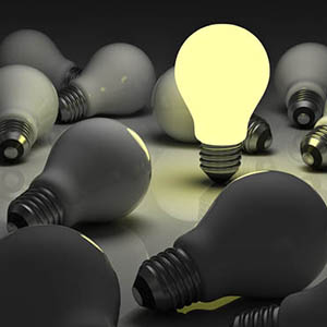 Light bulb bright ERP software