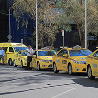 Multi fleet control with a dedicated taxi software system