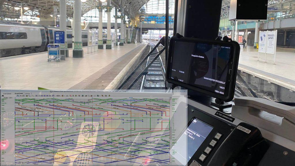 A photo show rail operator