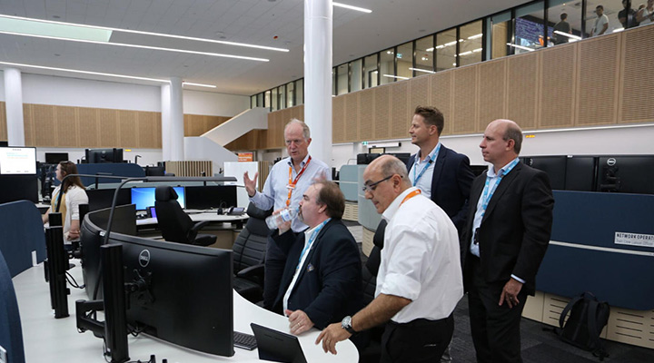 Paul Comfort & Trapeze Group Visits New Sydney Rail Operations Centre